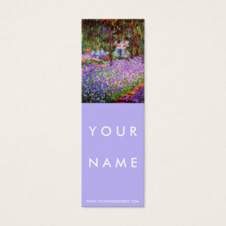 The Artist's Garden at Giverny by Monet Skinny Mini Business Card