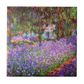 The Artist's Garden at Giverny by Monet Tile