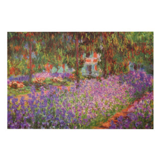 The Artist's Garden at Giverny by Monet XL Wood Print