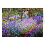 The Artist's Garden at Giverny, Claude Monet Greeting Card