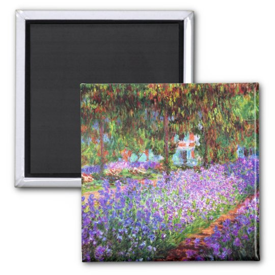The Artist's Garden at Giverny, Claude Monet Magnet
