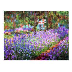 The Artist's Garden at Giverny, Claude Monet Post Cards