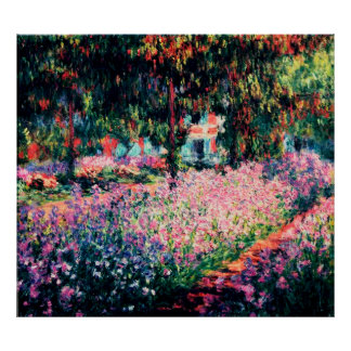 The Artist's Garden at Giverny Poster