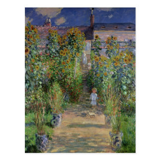 The Artist's Garden at Vetheuil, 1880 Postcard
