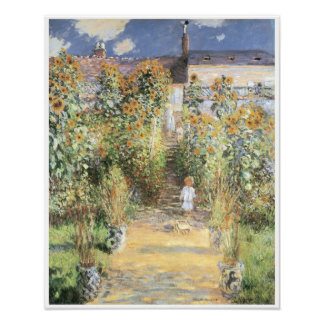 The Artist's Garden at Vetheuil, 1880 Posters