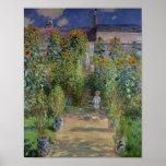 The Artist's Garden at Vetheuil, 1880 Poster