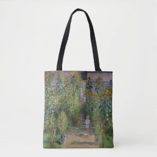 The Artist's Garden at Vetheuil, 1880 Tote Bag