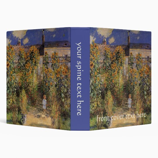 The Artist's Garden at Vetheuil by Claude Monet 3 Ring Binder