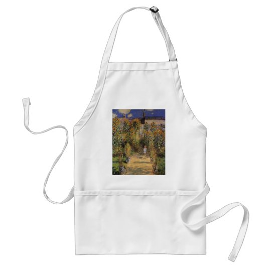 The Artist's Garden at Vetheuil by Claude Monet Adult Apron