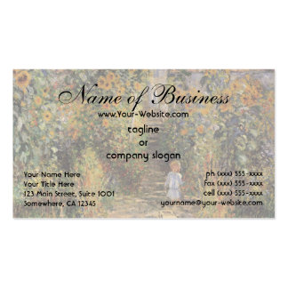 The Artist's Garden at Vetheuil by Claude Monet Double-Sided Standard Business Cards (Pack Of 100)