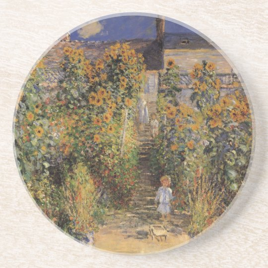 The Artist's Garden at Vetheuil by Claude Monet Coaster