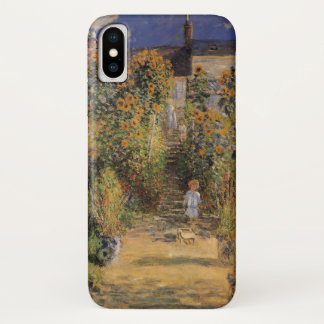 The Artist's Garden at Vetheuil by Claude Monet iPhone X Case
