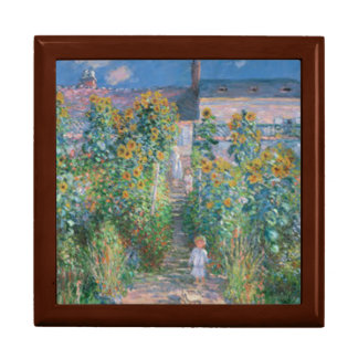 The Artist's Garden at Vetheuil by Claude Monet Jewelry Box