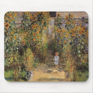 The Artist's Garden at Vetheuil by Claude Monet Mouse Pad