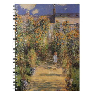 The Artist's Garden at Vetheuil by Claude Monet Notebook
