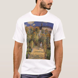 The Artist's Garden at Vetheuil by Claude Monet T-Shirt