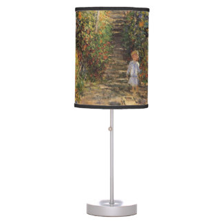 The Artist's Garden at Vetheuil by Claude Monet Table Lamp