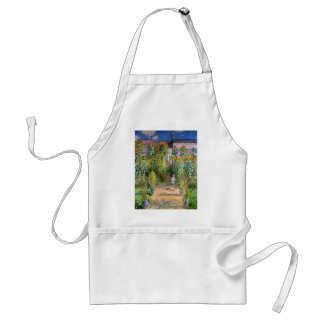 The Artist's Garden at Vetheuil, Claude Monet Adult Apron