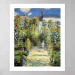 The Artist's Garden at Vetheuil Poster