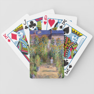 The Artist's Garden by Claude Monet Bicycle Playing Cards