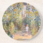 The Artist's Garden by Claude Monet Beverage Coasters