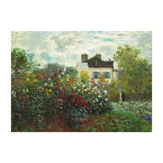 The Artist's Garden in Argenteuil 1873 (Monet) Canvas Print