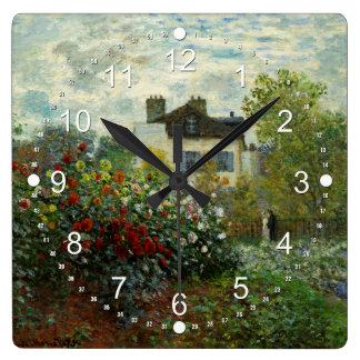 The Artist's Garden in Argenteuil 1873 (Monet) Wallclocks