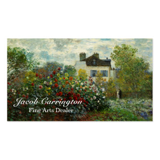 The Artist's Garden in Argenteuil 1873 (Monet) Double-Sided Standard Business Cards (Pack Of 100)