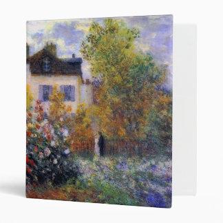 The Artist's Garden in Argenteuil Monet Fine Art Binder