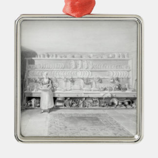 The Artist's Kitchen in Francis Street, 1846 Metal Ornament