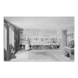 The Artist's Kitchen in Francis Street, 1846 Poster