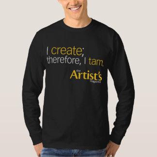 The Artist's Magazine Mens Black Long Sleeve T T-Shirt