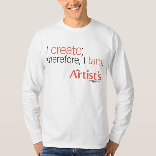 The Artist's Magazine Mens White Long Sleeve T T-Shirt