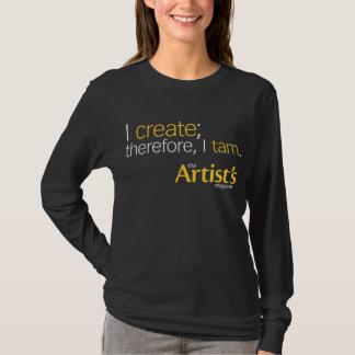 The Artist's Magazine Womens Black Long Sleeve T T-Shirt