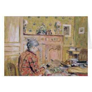 The Artist's Mother Taking Breakfast, 1899-1904 Card