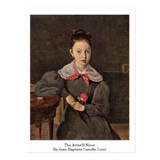 The Artist'S Niece By Jean-Baptiste Camille Corot Postcard