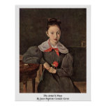 The Artist'S Niece By Jean-Baptiste Camille Corot Posters