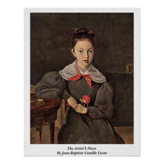 The Artist'S Niece By Jean-Baptiste Camille Corot Poster