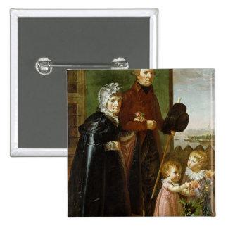The Artist's Parents, 1806 2 Inch Square Button