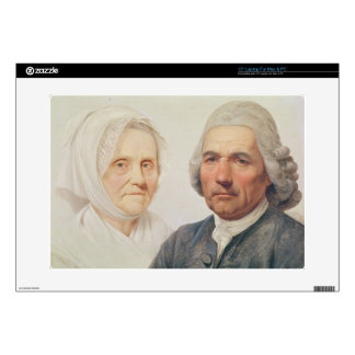 The artist's parents (oil on canvas) laptop decal