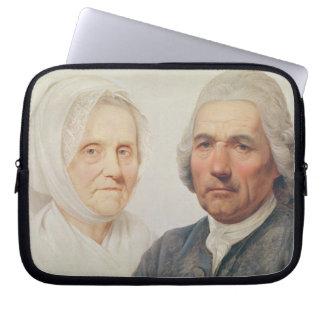 The artist's parents (oil on canvas) laptop sleeve