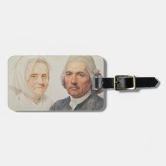 The artist's parents (oil on canvas) luggage tag
