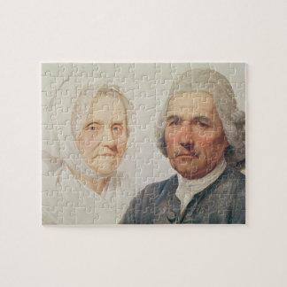 The artist's parents (oil on canvas) puzzles
