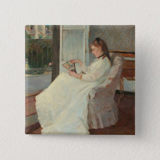 The Artist's Sister at a Window, 1869 Pinback Button