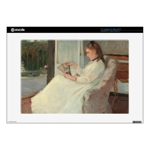 The Artist's Sister at a Window, 1869 Decal For Laptop