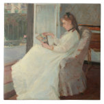 The Artist's Sister at a Window, 1869 Ceramic Tiles