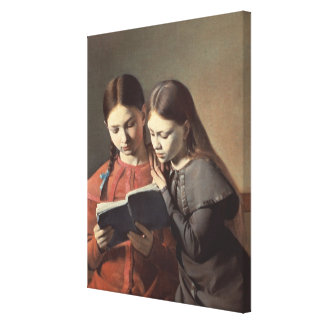 The Artist's Sisters Signe and Henriette Canvas Print