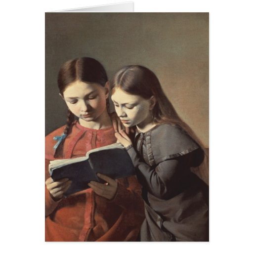 The Artist's Sisters Signe and Henriette Greeting Card