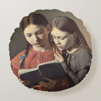 The Artist's Sisters Signe and Henriette Round Pillow