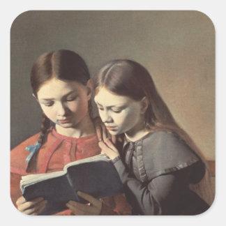 The Artist's Sisters Signe and Henriette Square Sticker
